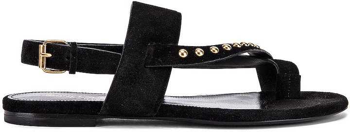 Gia Stud Sandals in Black   FWRD