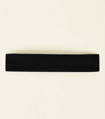 Black Jersey Headband