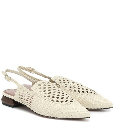 Gloria Leather Slingback Sandals