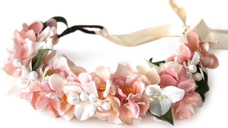 Pale Pink Flower Crown