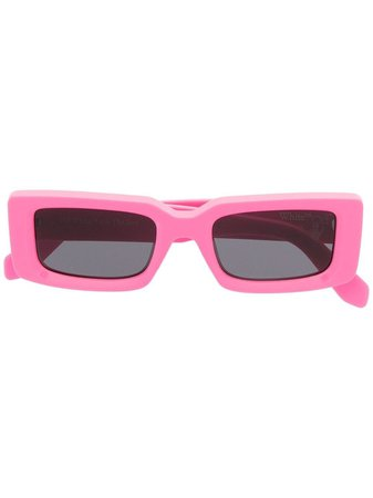 Shop black & pink Off-White Arthur rectangular-frame sunglasses with Express Delivery - Farfetch