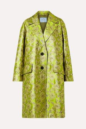 Metallic Brocade Coat - Green