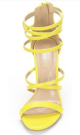 yellow Amazon heels