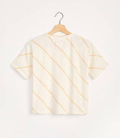 Striped Slub Jersey Tee | Lou & Grey ivory