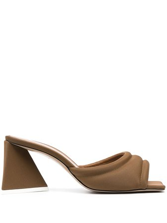 The Attico block-heel sandals - FARFETCH