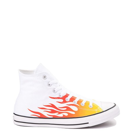 Converse Chuck Taylor All Star Hi Flames Sneaker - White | Journeys