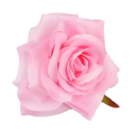 Buddly Crafts 100mm Rose Silk Flower Head - 1pc - Baby Pink | Buddly Crafts