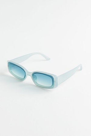 Grace Plastic Rectangle Sunglasses | Urban Outfitters