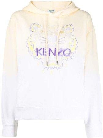 Tiger embroidered hooded sweatshirt