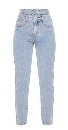 Blue light washed denim jeans