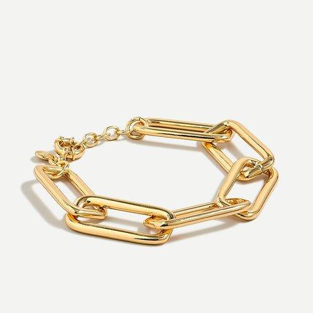 J.Crew: Long Link Gold Bracelet For Women