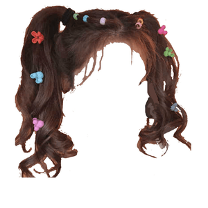 brown hair pigtails png clips