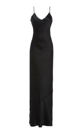 NL Collection Cami silk spaghetti strap gown