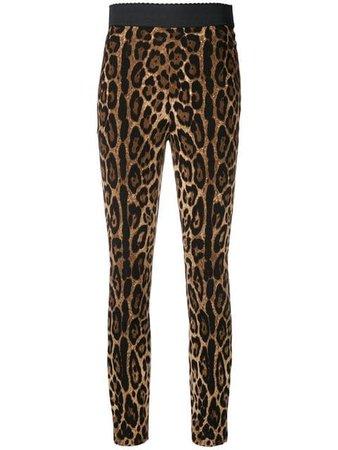 Dolce & Gabbana leopard print leggings