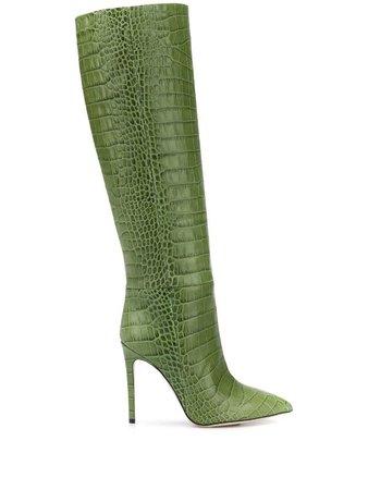 Paris Texas Embossed Knee Boots - Farfetch