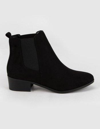 SODA Womens Black Chelsea Boots - BLACK - 382553100 | Tillys