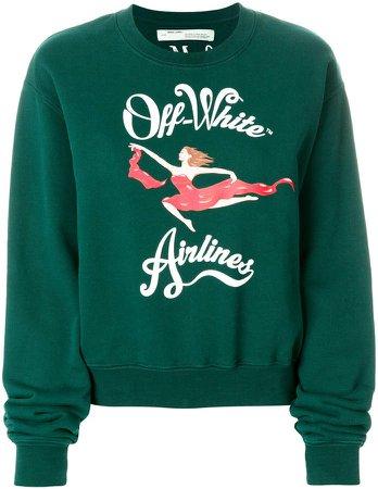 airlines print sweatshirt