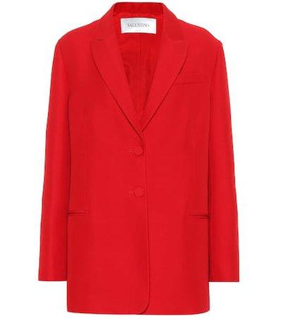 Cady wool and silk blazer