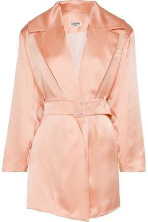 MATÉRIEL   Belted silk-satin blazer   NET-A-PORTER.COM