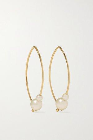 Gold Small 14-karat gold pearl earrings   Mizuki   NET-A-PORTER