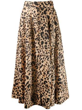 Zimmermann Leopard Print Skirt