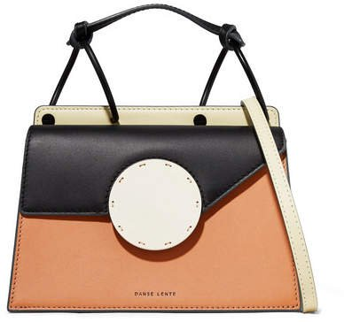 Phoebe Bis Color-block Leather Shoulder Bag - Tan