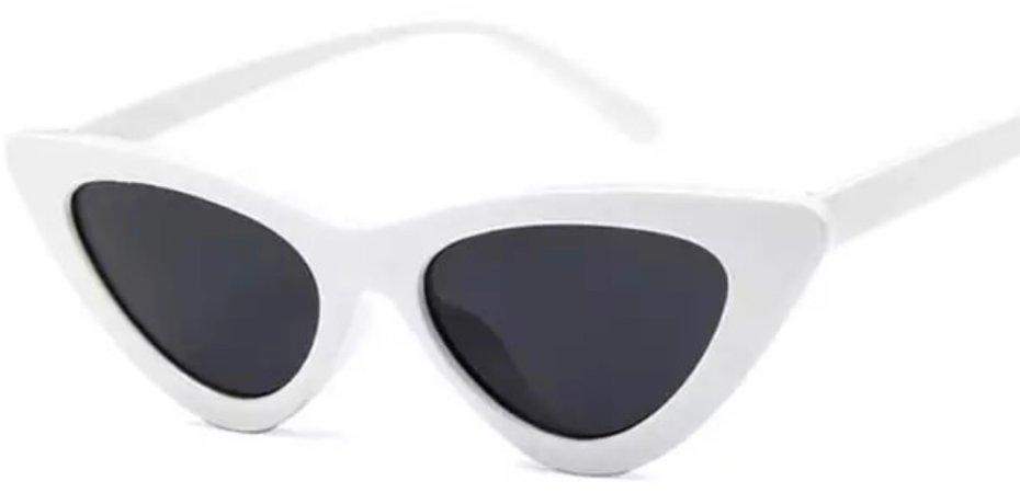 white black cat eye sunglasses