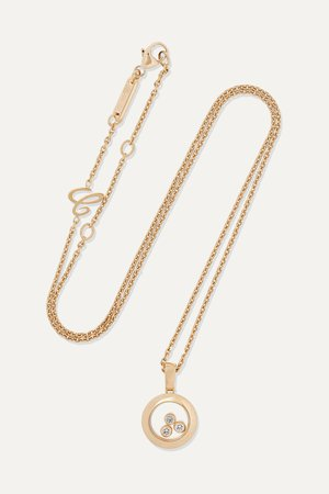 Gold + NET SUSTAIN Happy Diamonds 18-karat gold diamond necklace   Chopard   NET-A-PORTER