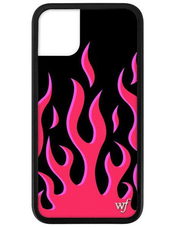 Red Flames iPhone 11 Case – Wildflower Cases