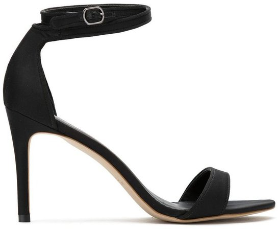 Satin Stiletto Heel Sandals
