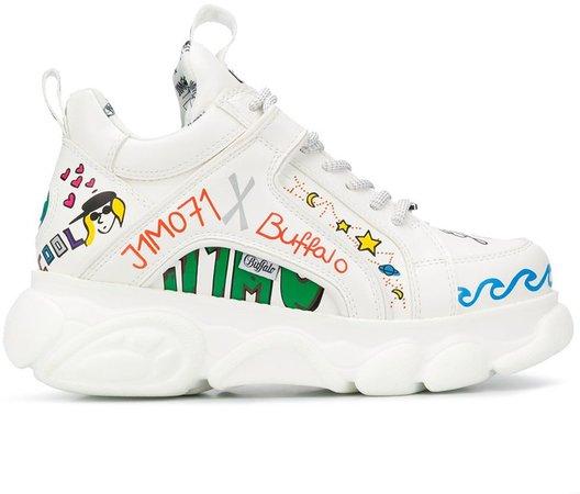 Graffiti-Print Sneakers