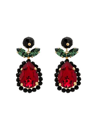 Simone Rocha Tear Drop Crystal Earrings - Farfetch