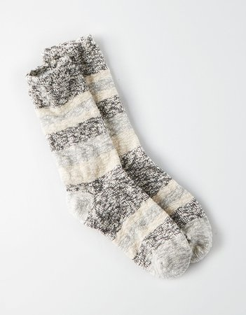 Marled Color Block Crew Sock