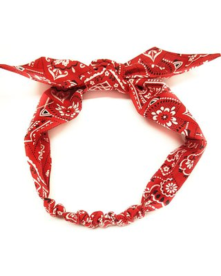 Savings on Red Bandana,red bandana headwrap,bandana Head wrap,girls bandana headwrap,Baby Bandana Headband,Rockabilly Headband,Pinup Headband