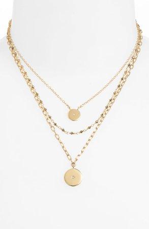 ela rae Triple Layer Necklace | Nordstrom