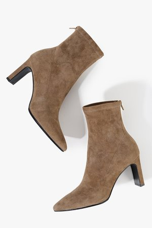 Square Heel Suede Boots – Genuine People