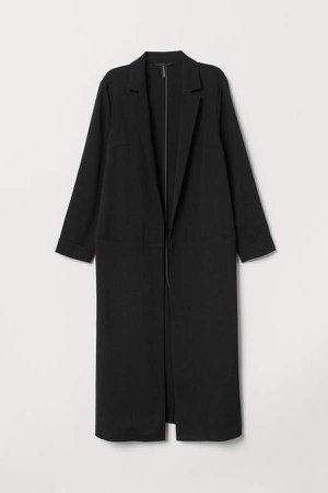 Knee-length Coat - Black