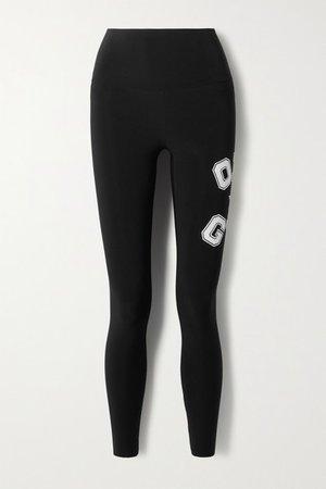 Omo Printed Stretch-jersey Leggings - Black