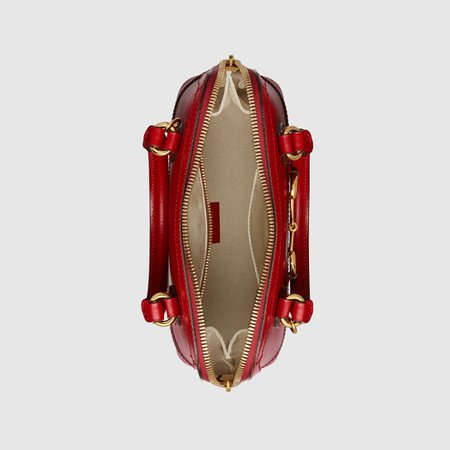 Red Gucci Horsebit 1955 small top handle bag | GUCCI® TR