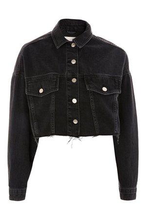 Hacked Off Cropped Denim Jacket | Topshop