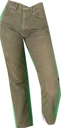 olive green vintage high waisted jeans, depop
