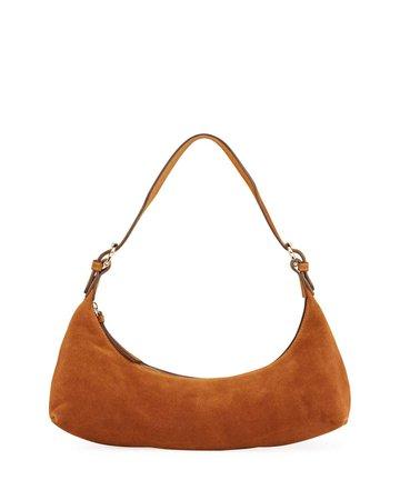 BY FAR Mara Suede Shoulder Bag   Neiman Marcus