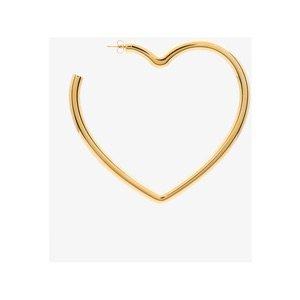 Balenciaga Gold Metallic Oversized Heart Earring