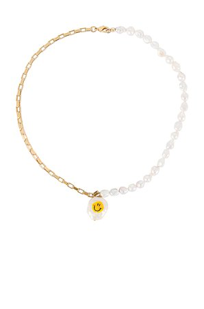 joolz by Martha Calvo All Smiles Necklace in Gold   REVOLVE