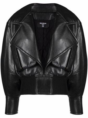 Balmain open front bomber jacket - FARFETCH