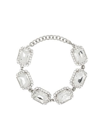 Shop metallic Alessandra Rich square crystal choker with Express Delivery - Farfetch