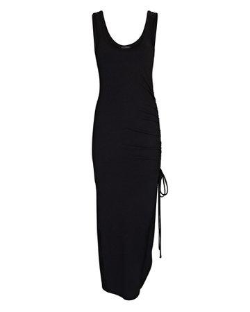 The Range Cinched Rib Knit Midi Dress | INTERMIX®