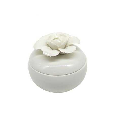 Porta Joias de Porcelana Flor - Dantas Presentes
