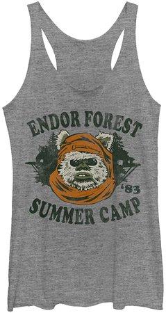 Amazon.com: Star Wars Women's Ewok Summer Camp Racerback Tank Top: Clothing