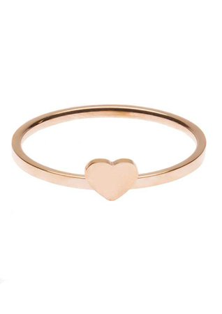 Dainty Heart Ring Rose Gold - Happiness Boutique